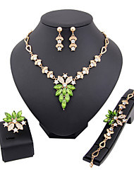 cheap -Women's Jewelry Set - Rhinestone Fashion Include Light Gold For Wedding Party / Rings / Earrings / Necklace / Bracelets & Bangles