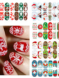 1 Sticker Manucure  Bijoux pour ongles Autocollants 3D pour ongles Adorable Punk Mariage Maquillage cosmétique Manucure Design