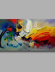 abordables -Pintura al óleo pintada a colgar Pintada a mano - Abstracto Modern Lona