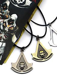 Jóias Inspirado por Assassin's Creed Connor Anime/Games Acessórios de Cosplay Colares Preto / Amarelo / Prateado Liga Masculino