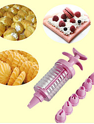 cheap -8 In 1 Cookies Decorating Tools Cream Crowded Flower Implement Puff Cookies Mold Baking Suit Random Color