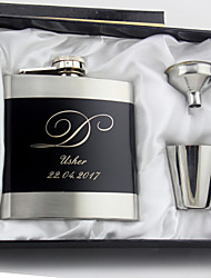 Groom Groomsman Couple Parents Stainless Steel Hip Flasks Wedding Anniversary Birthday Business