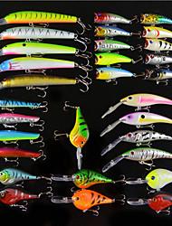 baratos -30 pcs pçs Isco Duro / Iscas Isco Duro / Vairão / Manivela Plástico Duro Pesca de Mar / Isco de Arremesso / Pesca no Gelo / Pesca de Carpa / Pesca de Isco / Pesca Geral / Pesca de Isco e Barco