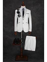 economico -Avorio Modello Taglio sartoriale Misto cotone Tuta - Risvolto sciallato Monopetto - 1 bottone / Suits
