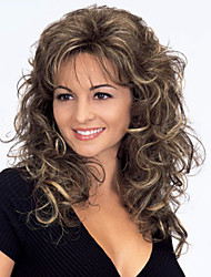 cheap -Synthetic Wig Curly / Wavy Synthetic Hair Brown Wig Women's Medium Length Capless