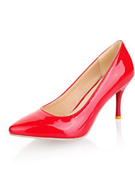 abordables -Hombre Mujer Chica Zapatos Semicuero Primavera Verano Tacón Stiletto Purpurina para Boda Oficina y carrera Vestido Negro Almendra
