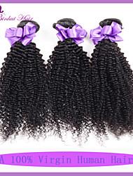 Недорогие -Малазийские волосы Классика Кудрявое плетение Кудрявый вьющиеся Ткет человеческих волос 3 предмета Высокое качество 0.3 Повседневные