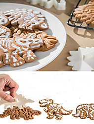 cheap -3Pcs Dino Fossil Cookie Cutters Cake Mould Cake Tools