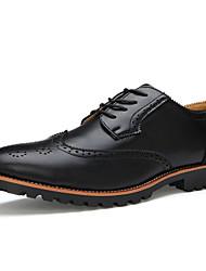 Herren Schuhe Leder Frühling Sommer Herbst Winter Bullock Schuhe Stiefeletten Outdoor Walking Schnürsenkel Für Normal Party & Festivität