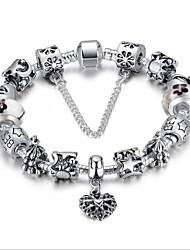 preiswerte -Strang-Armbänder Charme Retro Niedlich Party Freizeit Perlenbesetzt Aleación Schlange Schmuck Modeschmuck Weiß Dunkelblau Rosa