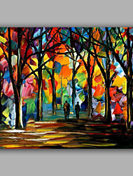 cheap -Knife Forest Pure Handmade Design Landscape Oil Painting Home Decoration