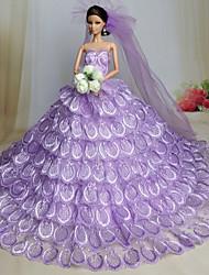 cheap -Wedding Dresses For Barbie Doll Dresses For Girl's Doll Toy
