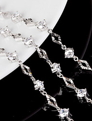 cheap -Women's Sterling Silver Chain Bracelet Charm Bracelet - White Bracelet For Wedding Party Daily
