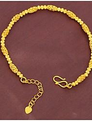 billige -Dame Guld Kæde Armbånd Ikke-sten