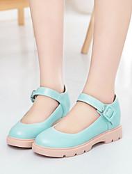 povoljno -Žene Cipele Umjetna koža Proljeće Ljeto Ravna potpetica Kopča za Kauzalni Ured i karijera Formalne prilike Obala Bež Plava Pink