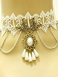 Недорогие -Женский Винтаж Викторианский стиль Ожерелья-бархатки Готический ювелирные изделия Кружево Ожерелья-бархатки Готический ювелирные изделия ,