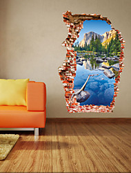 cheap -Landscape Romance Fashion Shapes Botanical Cartoon Fantasy 3D Wall Stickers 3D Wall Stickers Decorative Wall Stickers, PVC Home Decoration