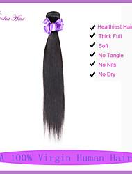 billige -1 Bundle malaysisk hår Lige / Klassisk Jomfruhår Menneskehår, Bølget Menneskehår Vævninger Menneskehår Extensions / Ret