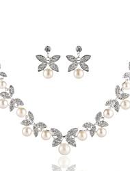 abordables -Femme Imitation de perle Imitation Diamant Collier court / Ras-du-cou  -  Basique Forme Géométrique Argent Colliers Tendance Pour Mariage