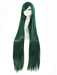 cheap -Cosplay Long Straight Hair High Temperature Wire Dark Green Synthetic Wigs Hot Sale.
