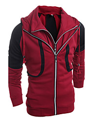 cheap -Men's Sports Long Sleeve Hoodie - Solid Colored Hooded