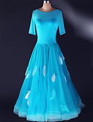 preiswerte -Moderner Tanz-Kleider(Blau / Königsblau / Weiß,Elastan,Moderner Tanz) - fürDamen Kleid