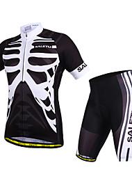 povoljno -SALETU Kratkih rukava Biciklistička majica s kratkim hlačama - Crn Lubanje Bicikl Kratke hlače Biciklistička majica Kompleti odjeće,