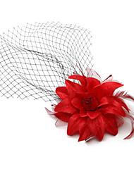 velos de colorete de velo de novia de una sola capa con accesorios de red para la boda