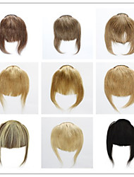 cheap -Bangs or Fringes Human straight hair 3clips 30g Clip in on hair extensions Free shipping Janet Colorful