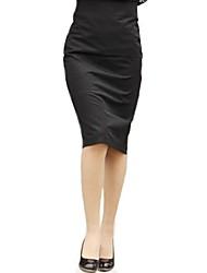 cheap -Women's Vintage Bodycon Inelastic Medium Knee-Length Skirts (Cotton Blends)