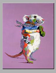 картина маслом современного абстрактного чистого ничья рука готовы повесить декоративную крыс маслом
