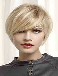 cheap -Fashion  Blonde Short  Syntheic  Wig Extensions Women Lady Style