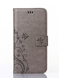 cheap -Case For Huawei Y550 / Other / Huawei P8 Lite / Huawei Case Wallet / Card Holder / with Stand Full Body Cases Butterfly Hard PU Leather for Huawei P8 Lite / Huawei Y550 / other