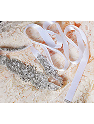 cheap -Satin Wedding Party/ Evening Dailywear Sash With Crystal Beading Appliques Pearls Sequins