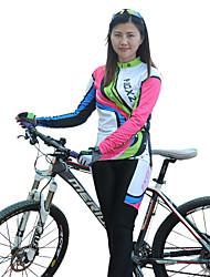 FJQXZ Calça com Camisa para Ciclismo Mulheres Manga Longa Moto braço aquecedores Conjuntos de Roupas Térmico/Quente Secagem Rápida A