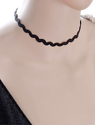 cheap -Women's Choker Necklace / Gothic Jewelry - Lace Black, Pure White Necklace Jewelry For Wedding, Party, Daily