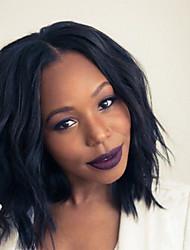 Unprocessed Virgin Human Hair Bob Wig For Black Women 10''-18'' Natual Wave Short Bob Cut Lace Front Wigs Human Hair