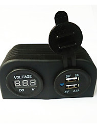 cheap -lossmann Water Resistant Double USB Car Charger Adapter and Digital Voltmeter