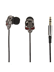 Новый супер-бас наушников 3,5 мм в ухо надежную фиксацию металлический 3,5 мм наушники с для Samsung S4 / S5