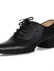 "cheap -Men's Latin Leather Heel Beginner Professional Performance Chunky Heel Black 2"" - 2 3/4"" Non Customizable"