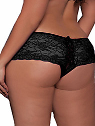 cheap -Women's Plus Size Jacquard Ultra Sexy Panties Shorties & Boyshorts Panties Cotton Polyester Lace White Black Purple Pink Light Blue