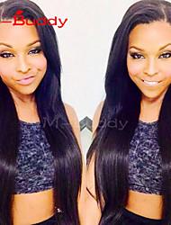Žene Perike s ljudskom kosom Ljudska kosa Full Lace Lace Front 120% 130% 150% 180% Gustoća Ravna Perika Boja gagata Crna Tamnosmeđa