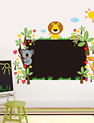 cheap -Wall Stickers Wall Decals Style New Cartoon Lion Blackboard Waterproof Removable PVC Wall Stickers