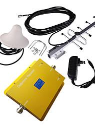Недорогие -ЖК-дисплей gsm950 900MHz мобильный сотовый телефон усилитель сигнала с потолка и Яги антенны комплект
