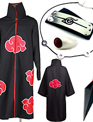Inspired by Naruto Itachi Uchiha Anime Cosplay Costumes Cosplay Suits Cosplay Accessories Print Necklace Cloak More Accessories Weapon