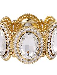 Feminino Pulseiras com Pendentes Bracelete Cristal Cristal Strass imitação de diamante Liga Jóias da indicação Moda Prata Dourado Jóias
