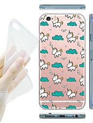 baratos -para o iphone 7 maycari® memória de infância macio TPU transparente caso volta para o iPhone 6s 6 mais