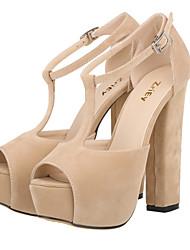 cheap -Women's Shoes Fabric Chunky Heel Heels / Peep Toe / Platform Sandals Wedding / Party & Evening /  Green /