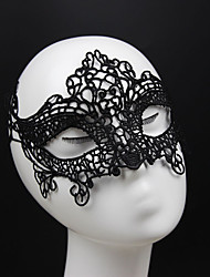 cheap -Gothic Style Black Lace Mask for Wedding Party