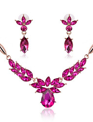 MISSING UWomen Cute / Party Rose Gold Plated / Alloy / Gemstone & Crystal Necklace / Earrings Jewelry Sets